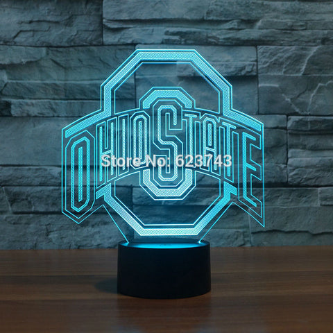 Ohio State Logo 3d Lamp,  [product_collection], DEFINITE Sporting Goods, [product_tags]- DEFINITE Sporting Goods