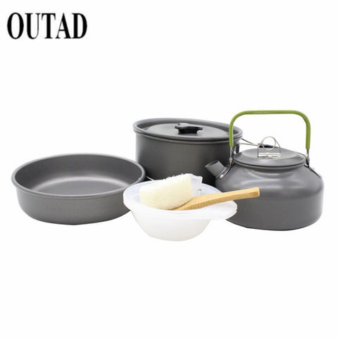 9pcs Camping Cookware Mini Pan Kettle and Pot Set for 2-3 Individuals,  [product_collection], DEFINITE Sporting Goods, [product_tags]- DEFINITE Sporting Goods