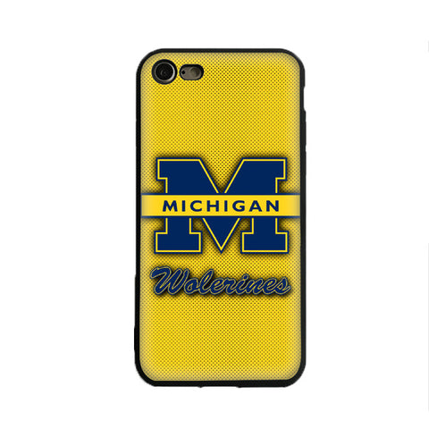 Michigan Wolverines Silicone Soft Cover For Apple Iphone X 5 5S Se 6 6S 7 8 6 Plus 6S Plus 7 Plus 8 Plus,  [product_collection], DEFINITE Sporting Goods, [product_tags]- DEFINITE Sporting Goods