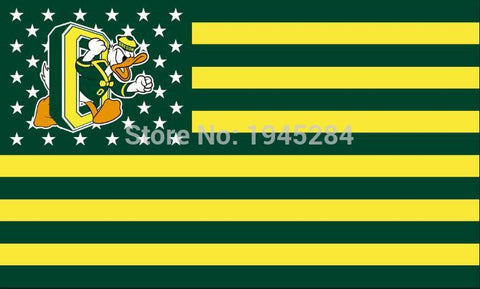 Oregon Ducks USA Flag 3x5FT,  [product_collection], DEFINITE Sporting Goods, [product_tags]- DEFINITE Sporting Goods