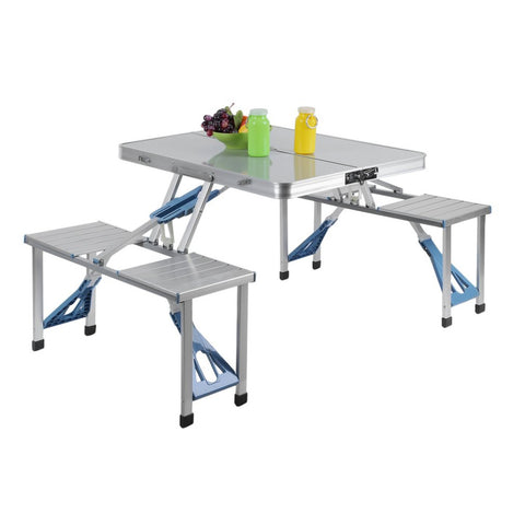 Aluminum Portable Folding All-in-one Camping Picnic Table with 4 Seats Suitcase,  [product_collection], DEFINITE Sporting Goods, [product_tags]- DEFINITE Sporting Goods