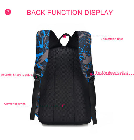 Aelicy 3pcs Waterproof Oxford Backpack,  [product_collection], DEFINITE Sporting Goods, [product_tags]- DEFINITE Sporting Goods