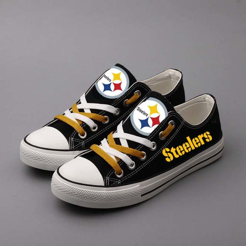 Pittsburgh Steelers Black Canvas Shoes,  [product_collection], DEFINITE Sporting Goods, [product_tags]- DEFINITE Sporting Goods