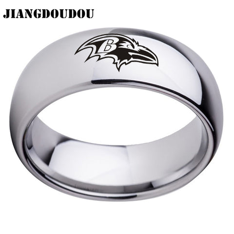 Baltimore Ravens Logo Men's Titanium Steel Ring,  [product_collection], DEFINITE Sporting Goods, [product_tags]- DEFINITE Sporting Goods