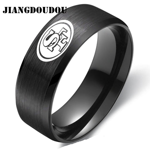 San Francisco 49ers Logo Men's Titanium Steel Ring,  [product_collection], DEFINITE Sporting Goods, [product_tags]- DEFINITE Sporting Goods