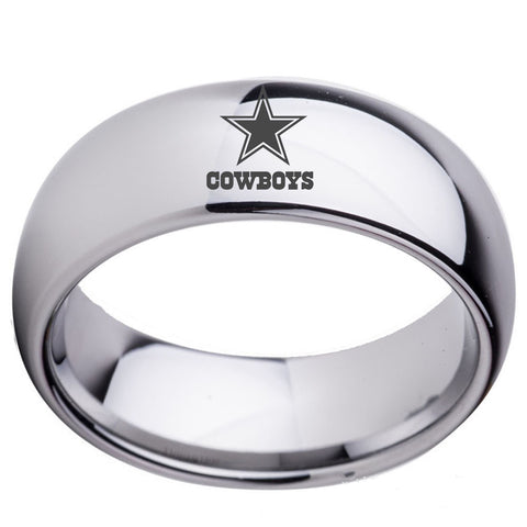Dallas Cowboys Logo Men's Titanium Steel Ring,  [product_collection], DEFINITE Sporting Goods, [product_tags]- DEFINITE Sporting Goods