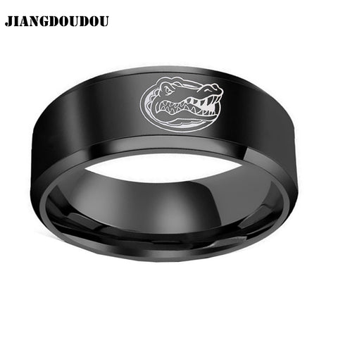 Florida Gators Logo Men's Titanium Steel Ring,  [product_collection], DEFINITE Sporting Goods, [product_tags]- DEFINITE Sporting Goods