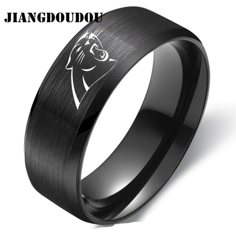 Carolina Panthers Logo Men's Titanium Steel Ring,  [product_collection], DEFINITE Sporting Goods, [product_tags]- DEFINITE Sporting Goods