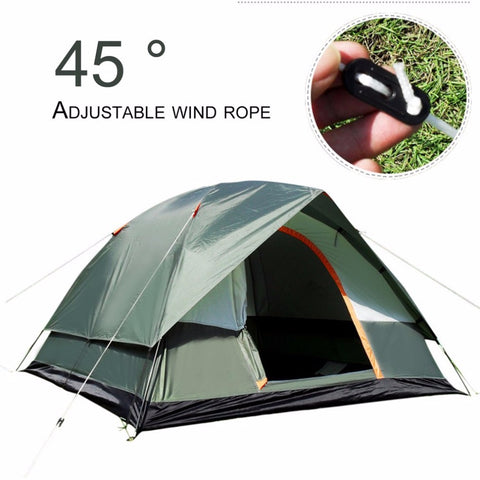 3-4 Person Windbreak Camping Tent Dual Layer Waterproof,  [product_collection], DEFINITE Sporting Goods, [product_tags]- DEFINITE Sporting Goods