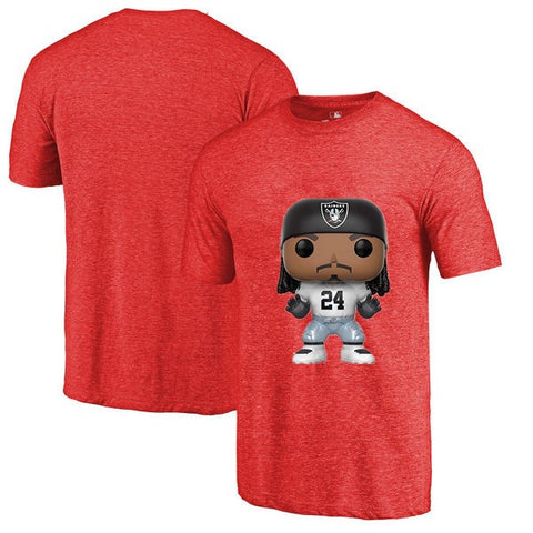Oakland Raiders NFL Marshawn Lynch Cartoon T Shirt,  [product_collection], DEFINITE Sporting Goods, [product_tags]- DEFINITE Sporting Goods