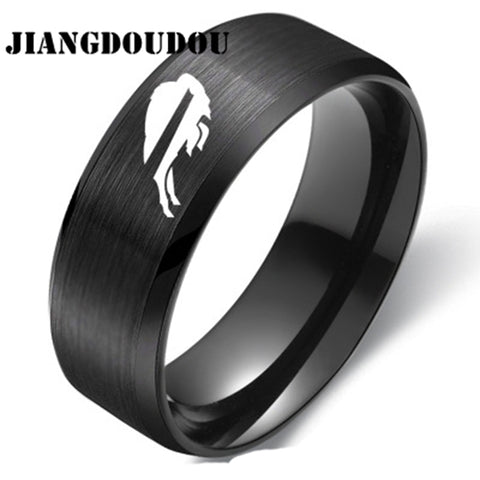 Buffalo Bills Logo Men's Titanium Steel Ring,  [product_collection], DEFINITE Sporting Goods, [product_tags]- DEFINITE Sporting Goods