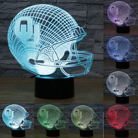 Oklahoma Sooners Helmet LED Desk Lamp,  [product_collection], DEFINITE Sporting Goods, [product_tags]- DEFINITE Sporting Goods