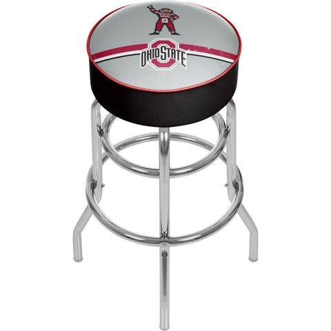 Ohio State Brutus Stripe Padded Swivel Bar Stool,  [product_collection], DEFINITE Sporting Goods, [product_tags]- DEFINITE Sporting Goods