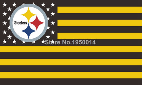 Pittsburgh Steelers Flag USA NFL Flag 3x5 ft,  [product_collection], DEFINITE Sporting Goods, [product_tags]- DEFINITE Sporting Goods