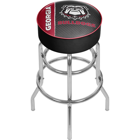 University of Georgia Padded Swivel Bar Stool - Text,  [product_collection], DEFINITE Sporting Goods, [product_tags]- DEFINITE Sporting Goods