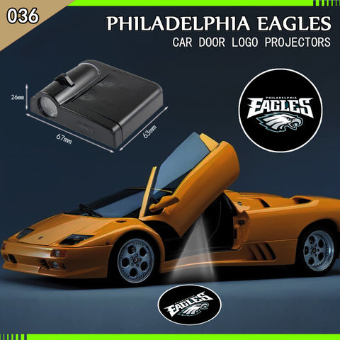 Philadelphia Eagles 2pc WIRELESS LED CAR DOOR PROJECTORS,  [product_collection], DEFINITE Sporting Goods, [product_tags]- DEFINITE Sporting Goods