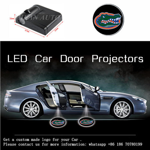 UF Florida Gators 2pc WIRELESS LED CAR DOOR PROJECTORS,  [product_collection], DEFINITE Sporting Goods, [product_tags]- DEFINITE Sporting Goods