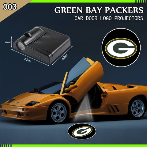 Green Bay Packers 2pc WIRELESS LED CAR DOOR PROJECTORS,  [product_collection], DEFINITE Sporting Goods, [product_tags]- DEFINITE Sporting Goods