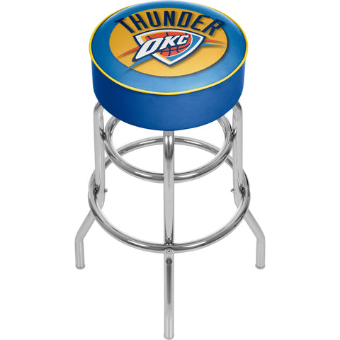 Oklahoma City Thunder NBA Padded Swivel Bar Stool,  [product_collection], DEFINITE Sporting Goods, [product_tags]- DEFINITE Sporting Goods