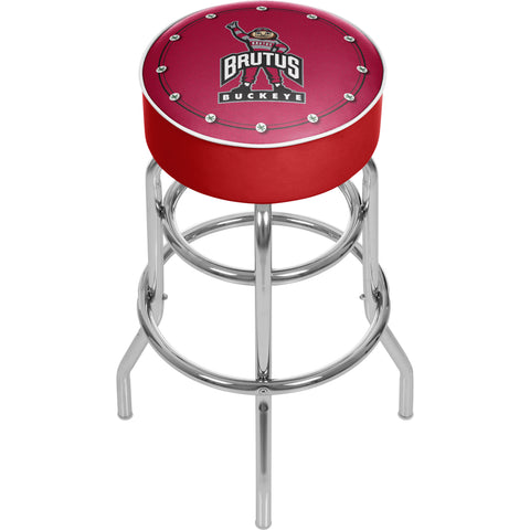Ohio State University Logo Padded Swivel Bar Stool - Brutus,  [product_collection], DEFINITE Sporting Goods, [product_tags]- DEFINITE Sporting Goods