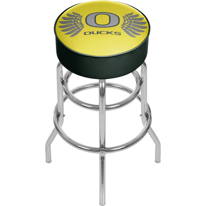 University of Oregon Chrome Padded Swivel Bar Stool - Wings,  [product_collection], DEFINITE Sporting Goods, [product_tags]- DEFINITE Sporting Goods