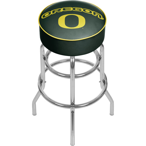 University of Oregon Chrome Padded Swivel Bar Stool,  [product_collection], DEFINITE Sporting Goods, [product_tags]- DEFINITE Sporting Goods