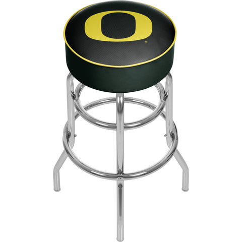University of Oregon Chrome Padded Swivel Bar Stool - Carbon Fiber,  [product_collection], DEFINITE Sporting Goods, [product_tags]- DEFINITE Sporting Goods
