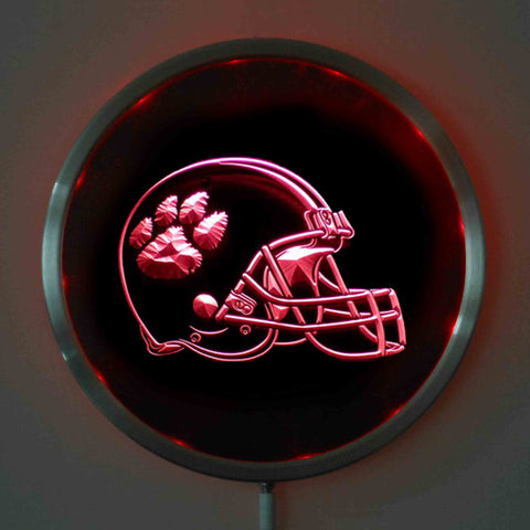 Clemson Tigers LED Neon Round Signs 10 Inch - Bar Sign,  [product_collection], DEFINITE Sporting Goods, [product_tags]- DEFINITE Sporting Goods