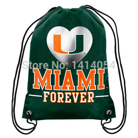 Miami Hurricanes Forever Drawstring Backpack,  [product_collection], DEFINITE Sporting Goods, [product_tags]- DEFINITE Sporting Goods