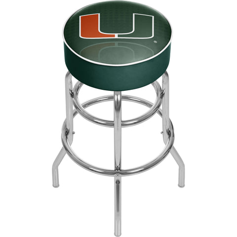 University of Miami Chrome Bar Stool with Swivel - Reflection,  [product_collection], DEFINITE Sporting Goods, [product_tags]- DEFINITE Sporting Goods