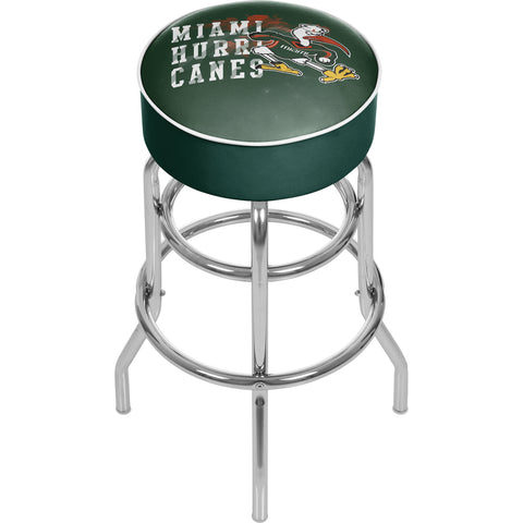 University of Miami Sebastian Chrome Bar Stool with Swivel - Smoke,  [product_collection], DEFINITE Sporting Goods, [product_tags]- DEFINITE Sporting Goods