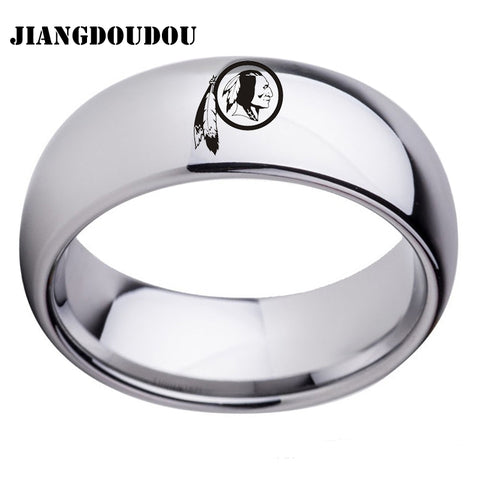 Washington Redskins Logo Men's Titanium Steel Ring,  [product_collection], DEFINITE Sporting Goods, [product_tags]- DEFINITE Sporting Goods