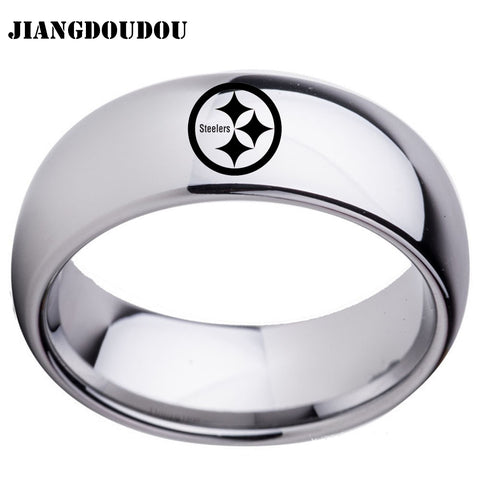 Pittsburgh Steelers Logo Men's Titanium Steel Ring,  [product_collection], DEFINITE Sporting Goods, [product_tags]- DEFINITE Sporting Goods