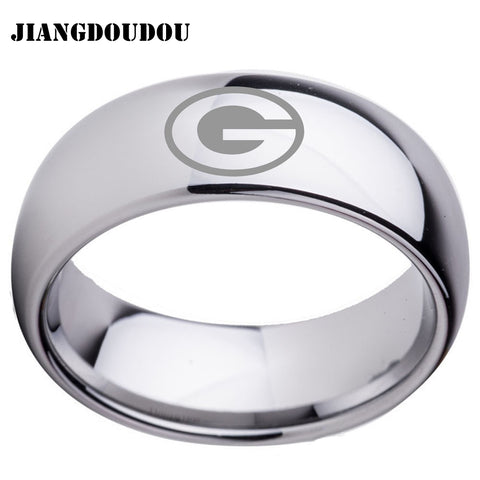 Green Bay Packers Logo Men's Titanium Steel Ring,  [product_collection], DEFINITE Sporting Goods, [product_tags]- DEFINITE Sporting Goods