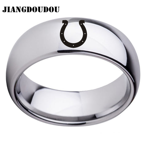 Indianapolis Colts Logo Men's Titanium Steel Ring,  [product_collection], DEFINITE Sporting Goods, [product_tags]- DEFINITE Sporting Goods
