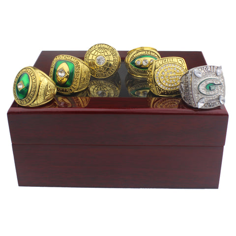 GREEN BAY PACKERS Superbowl I, II XXXI, XLV Championship Rings Set,  [product_collection], DEFINITE Sporting Goods, [product_tags]- DEFINITE Sporting Goods