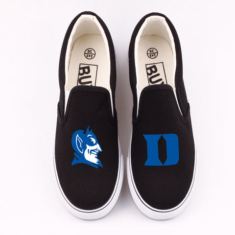 Custom Duke Blue Devils Canvas Shoes Low Top,  [product_collection], DEFINITE Sporting Goods, [product_tags]- DEFINITE Sporting Goods