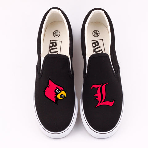 Custom Louisville Cardinals Canvas Shoes Low Top,  [product_collection], DEFINITE Sporting Goods, [product_tags]- DEFINITE Sporting Goods