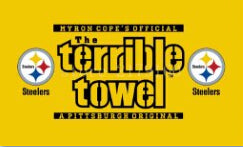 The Terrible Towel Design Pittsburgh Steelers Flag,  [product_collection], DEFINITE Sporting Goods, [product_tags]- DEFINITE Sporting Goods