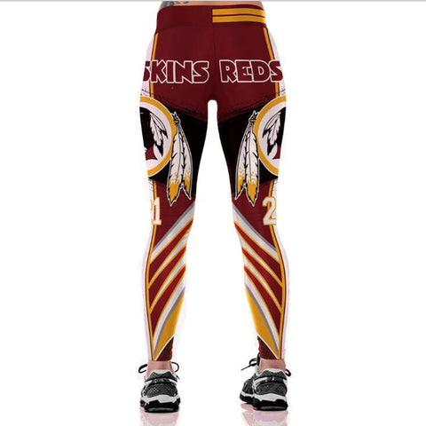 WASHINGTON REDSKIN NFL LEGGINGS,  [product_collection], DEFINITE Sporting Goods, [product_tags]- DEFINITE Sporting Goods