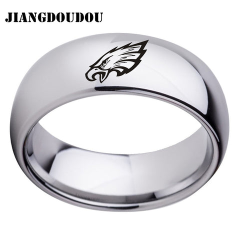 Philadelphia Eagles Logo Men's Titanium Steel Ring,  [product_collection], DEFINITE Sporting Goods, [product_tags]- DEFINITE Sporting Goods