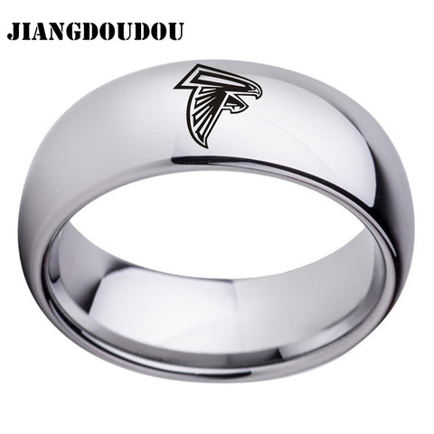 Atlanta Falcons Logo Men's Titanium Steel Ring,  [product_collection], DEFINITE Sporting Goods, [product_tags]- DEFINITE Sporting Goods