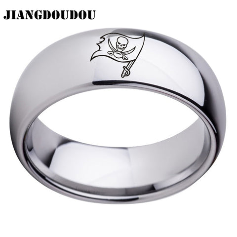 Tampa Bay Buccaneers Logo Men's Titanium Steel Ring,  [product_collection], DEFINITE Sporting Goods, [product_tags]- DEFINITE Sporting Goods