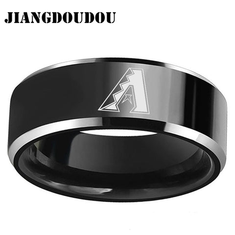 Arizona DIAMONDBACKS Logo Men's Titanium Steel Ring,  [product_collection], DEFINITE Sporting Goods, [product_tags]- DEFINITE Sporting Goods