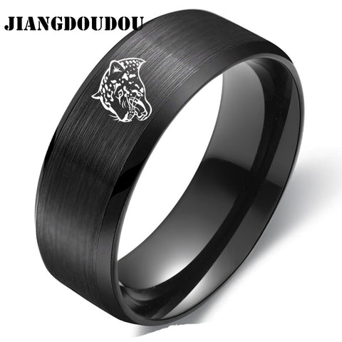 Jacksonville Jaguars Logo Men's Titanium Steel Ring,  [product_collection], DEFINITE Sporting Goods, [product_tags]- DEFINITE Sporting Goods
