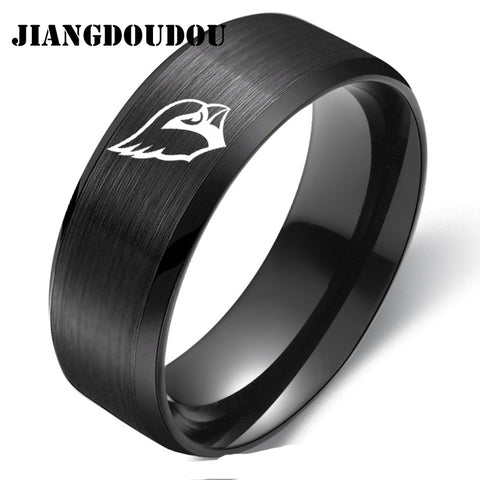 Arizona Cardinals Logo Men's Titanium Steel Ring,  [product_collection], DEFINITE Sporting Goods, [product_tags]- DEFINITE Sporting Goods