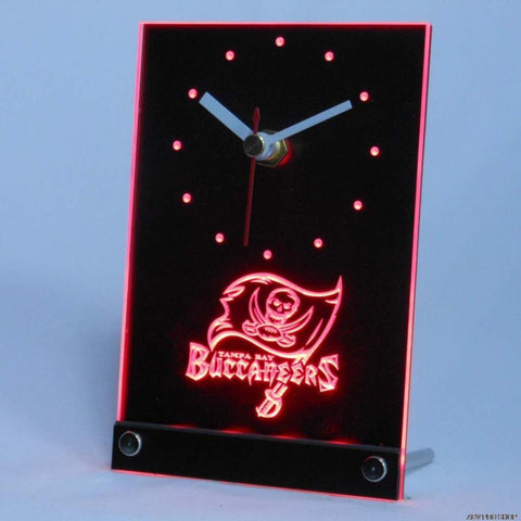 Tampa Bay Buccaneers 3D LED Clock,  [product_collection], DEFINITE Sporting Goods, [product_tags]- DEFINITE Sporting Goods