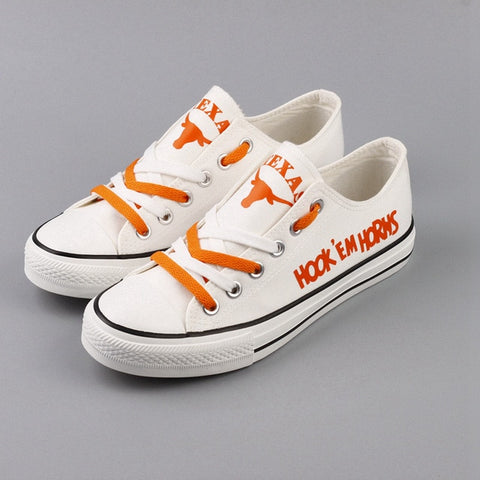 Texas Longhorns Hook'em Womens Shoes White,  [product_collection], DEFINITE Sporting Goods, [product_tags]- DEFINITE Sporting Goods