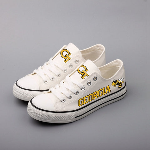 Georgia Tech Canvas Shoes,  [product_collection], DEFINITE Sporting Goods, [product_tags]- DEFINITE Sporting Goods