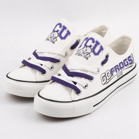 TCU Go Frogs Canvas Shoes,  [product_collection], DEFINITE Sporting Goods, [product_tags]- DEFINITE Sporting Goods